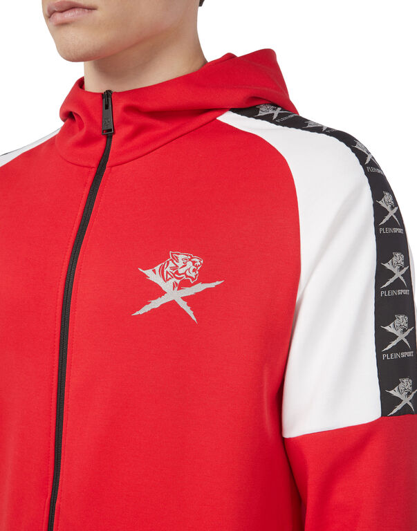 Hoodie Sweatjacket Cross Tiger