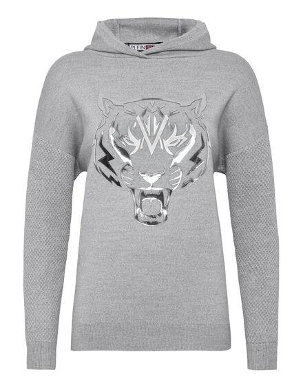 Knit hoodie Tiger