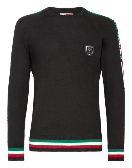 Pullover Round Neck LS IT Stripes