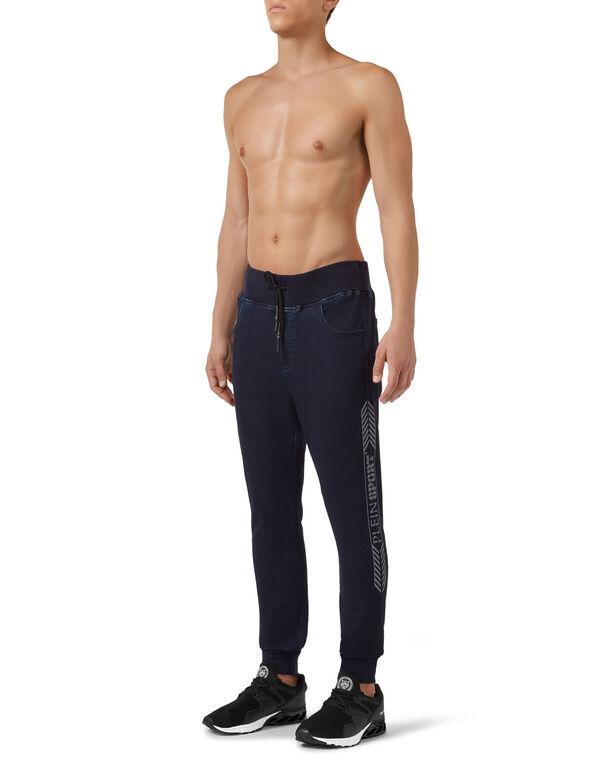 Jogging Denim Trousers Stripes