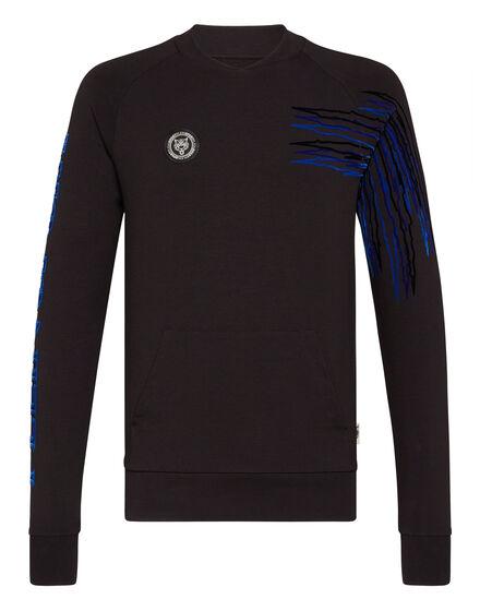 Sweatshirt LS flock Tiger jump