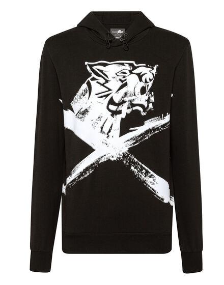Hoodie sweatshirt Cross Tiger