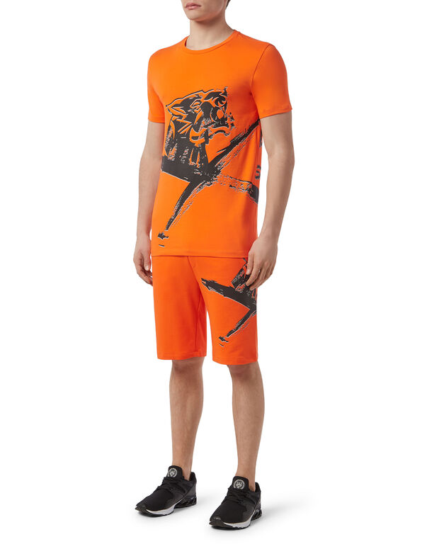 T-shirt Round Neck SS Cross Tiger
