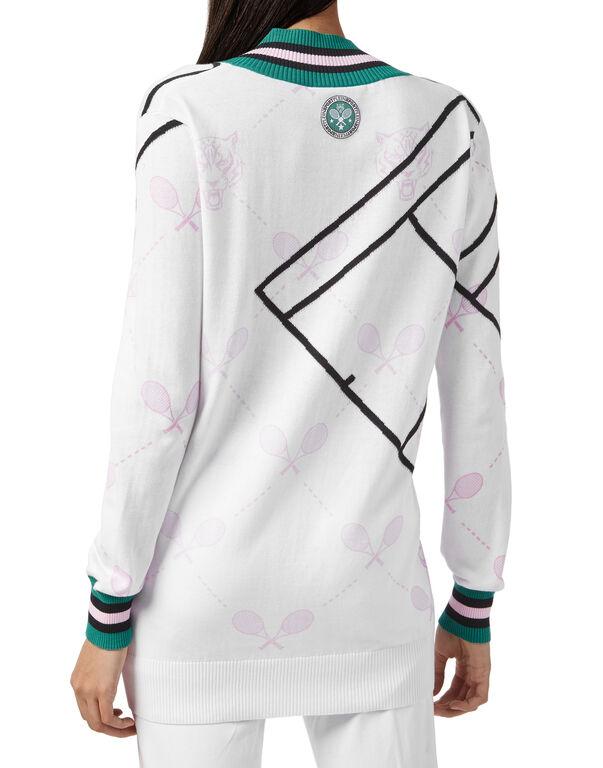 Pullover V-Neck LS Tennis