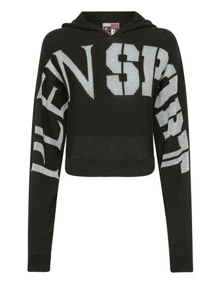 Knit hoodie Statement